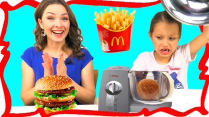 МАКДОНАЛЬДС против БЛЕНДЕРА Челлендж MCDONALDS VS BLENDER CHALLENGE Video For Kids /// Вики Шоу