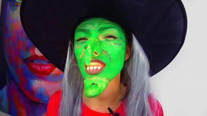 ЧЕЛЛЕНДЖ Хеллоуин Макияж Кто Страшнее Вика Вампир и Мама Ведьма Фиксики 2017 Challenge / Вики Шоу