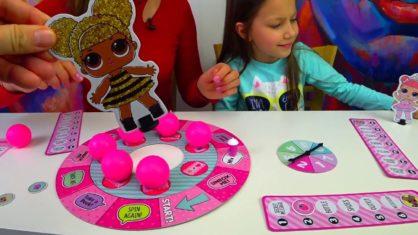 LOL CHALLENGE Лол Челлендж Кто Первый Оденет Куклу LOL Surprise Dolls Board Game/// Вики Шоу